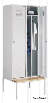 Метален гардероб Sum 420 + пейка P421