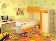 Детска стая от пдч в бежаво и оранжево