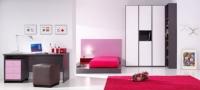 Обзавеждане за детска стая от пдч в бяло и розово