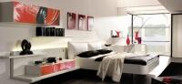 Тапицирано легло в бяло