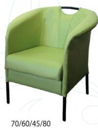 Зелено кресло луксозно