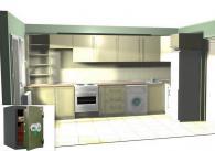 Сейф FRS 49 EL вграден в кухня комплект