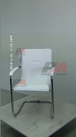 офис столове в бял цвят за управители